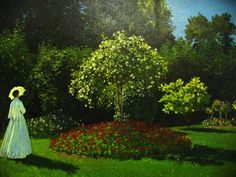 Lady in the garden, oil on canvas, 1867