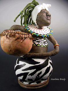 Marlene Brady: First Place Gourd Sculpture