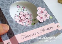 Julie's Stamping Spot - Bordering on Romance Diorama Card. Video tutorial
