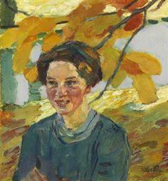 Mädchenporträt By Leo Putz ,1914