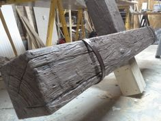 3D wood grain - sculpting faux (fake) wooden beams | The art of faking it - Stage design, themed rooms, props and more