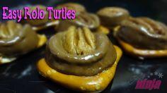 Easy Rolo Turtles #Recipe via Thrifty Ninja