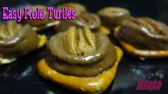 Easy Rolo Turtles.  Perfect for Kids Christmas parties at school!