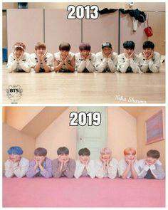 bts in 2013 vs bts in 2019