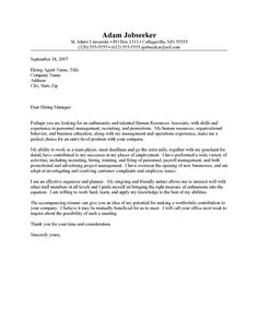 Hr Cover Letter Examples Resumes  Pinterest  Resume Cover Letters Job Interviews And .
