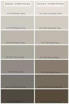 How To Choose The Perfect Grey Paint Color - Claire BrodyClaire Brody Designs. Agreeable Gray or Repose Gray. Mega Greige, Decoration Palette, Paint Colors For Home, Paint Colours, Brown Paint Colors, Gray Brown Paint, Warm Grey Paint, Lowes Paint Colors, Sand Color Paint