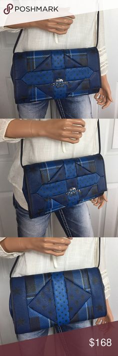 NWT Coach Patchwork Leather Crossbody/Clutch Brand new with tags . Coach patchwork Leather Crossbody/ clutch. Converts to how you would like to carry. Great size too!! Full Retail Coach! Coach Bags Crossbody Bags
