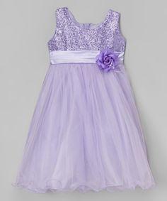 Shanil Lilac Sequin Overlay Dress - Toddler & Girls by Shanil #zulily #zulilyfinds