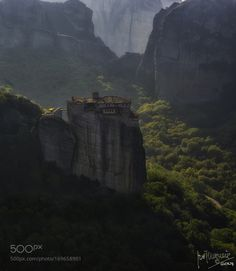 Meteora monastery in Thessaly in Kalambaka by Guendy. @go4fotos