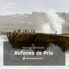 Las olas del Cantábrico rugen como fieras al comprimirse en las grietas de los acantilados del concejo de Llanes, en el occidente asturiano. Un espectáculo de la naturaleza más brava con chorros de agua que pueden alcanzar hasta los 20 metros de altura. Apoya al #RincónBufonesPría