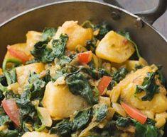 Rezept Palak Alu - Spinat m. Kartoffeln (vegan) von a.satti - Rezept der Kategorie Hauptgerichte mit Gemüse