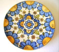 Italian Ceramic Wall Plates from Sicily