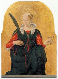 Tumblr      oldpainting:  lilacsinthedooryard:  missfolly:  Santa Lucia, by Francesco del Cossa, 1470