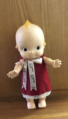 "Kewpie Baby Doll Rose O'Neil With Wings Japan 11""   Dolls & Bears, Dolls, By Type   eBay! Old School, Kids Toys, Baby Dolls, Kewpie Doll, The Past, Wings, Teddy Bear, Clay, Japan"