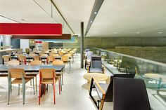 McDonalds at the Louvre in Paris!  Jean Prouvé furniture by Vitra.