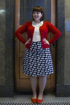 How darling is this elephant-print skirt! (Could do a similar look with polka dots)