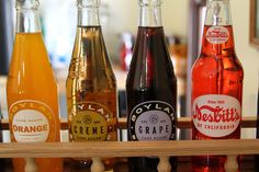 We are now offering vintage sodas in the Railroad Town Silver Dollar Cafe. These sodas are made with cane sugar and come in a variety of flavors. There is a video of some of our Railroad Town interpreters taste testing the new sodas at stuhrmuseum.org.