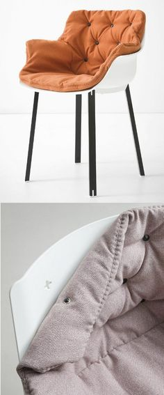 Polypropylene #chair with armrests MORE by GABER | #design Favaretto
