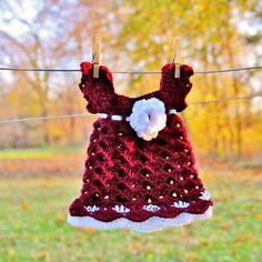 crotchet aggie baby dress