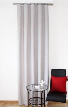 Dekoracyjne zasłony okienne w kolorze jasnoszarym