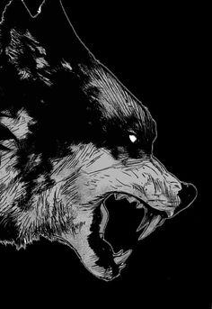 bigby can't help it, it's in his nature. just as a scorpion stings, a wolf must bite Dark Fantasy, Fantasy Art, Fantasy Wolf, Fenrir Tattoo, Wolf Hybrid, Beast, The Wolf Among Us, Alpha Wolf, Arte Obscura
