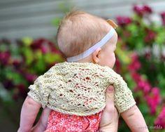 Too cute - Free #crochet baby shell shrug