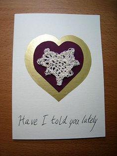 DIY Crochet DIY Yarn DIY Make a Crochet and Paper Valentine Card