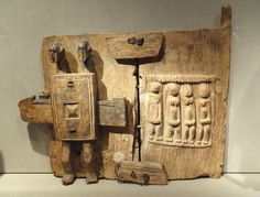 Granary shutter, Mali, Dogon people, early 20th century, wood, metal
