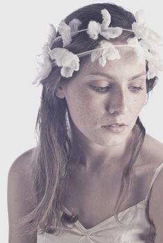 Bianca Nuno Felted Silk Flower Chain. via Etsy.