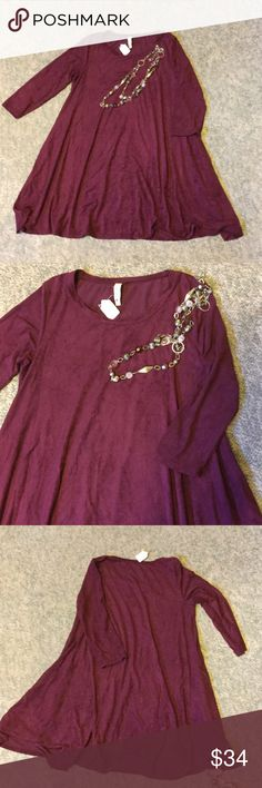 New Tyche Suede Boutique dress Medium Poly spandex blend ..size medium (6-8) Has pockets on both sides tyche Dresses