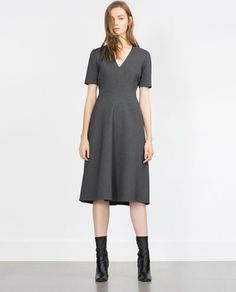 Perfect for day to night:  FLARED DRESS from Zara