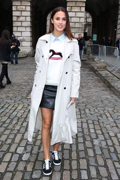 Pin for Later: Let These 9 Photos Be Your Spring Style Inspiration Sneakers and Skirts
