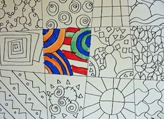 Line Drawing: Graphic Squares
