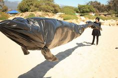 garbage bag whale
