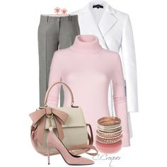 Chic With Pink&Grey, created by ccroquer on Polyvore