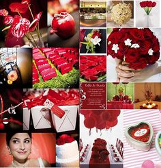 Just Married, Red And White, Gift Wrapping, Table Decorations, Amazing, Color, Mai 2015, Voici