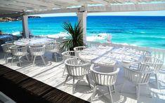 Cotton Beach Club is a stylish hotspot in Ibiza. Cotton Beach Club, located above Cala Tarida beach, is a hip & exclusive place to eat, drink & chill in style. Ibiza Beach Club, Beach Pool, Outdoor Restaurant, Restaurant Bar, Geneva Restaurant, Marina Restaurant, Floating Restaurant, Best Restaurants In Ibiza, Ibiza Formentera