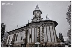 The monastery - The orthodox monastery of Bistrita from Romania, in winter season.