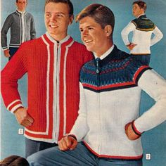 Teen Boys' Sweaters from a 1962 catalog.