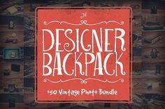The Designer Backpack Photo Bundle by Designerbundle on @creativemarket