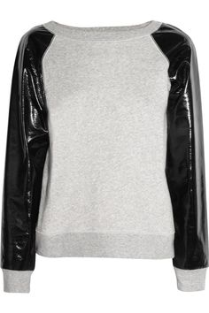 Cotton-terry and PVC sweater by KARL. €120