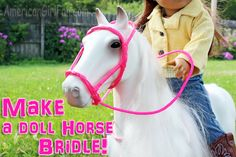 Make a doll horse bridle1