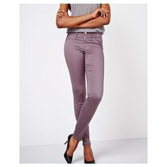 Natalie skinny pant in Tornado 32 inch inseam ❤ liked on Polyvore featuring pants, skinny trousers, super skinny pants, skinny pants, purple skinny pants and skinny leg pants