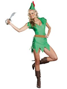 Get this sexy Peter Pan costume for Halloween or costume party! The womens sexy Peter Pan costume is a seductive version of the classic character. Pair up with our Tinkerbell costumes! Fairy Tale Costumes, Cat Costumes, Disney Costumes, Adult Costumes, Costumes For Women, Female Costumes, Cartoon Costumes, Couple Costumes, Movie Costumes