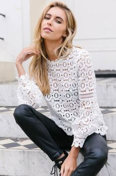 Layla Crochet Lace Blouse – ShopLuckyDuck