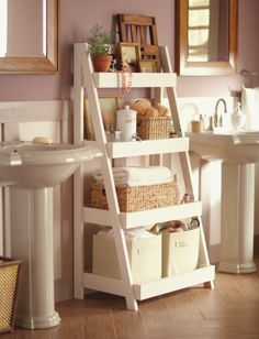 Bathroom Storage Solutions - 10 Clever Ideas You Need To Clever Bathroom Storage Solutions. What home couldn't use more storage in the bathroom! Check out these creative bathroom storage ideas! Clever Bathroom Storage, Bathroom Storage Solutions, Sweet Home, Diy Casa, Amazing Bathrooms, Small Bathrooms, Bathrooms Decor, Modern Bathrooms, Home Organization