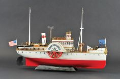 Marklin circa-1900 to 1902 'Providence' paddlewheel boat  Smooth sailing for Dick Claus Antique Nautical Toy and Boat collection