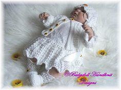 Vestido estilo años 1920 y chaqueta Set 16-24 pulgadas muñeca / 0-3m baby-1920, verano, bebé, muñeca, renacido