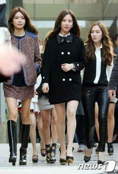 Sooyoung, Seohyun and Jessica with their incredible fashion