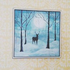 I made this a few years ago with acrylics.   If you're interested in following my art and illustration, check Instagram @ronjarikissa_art :)   #painting #acrylics #maalaus #taidemaalaus #peura #deer #art #decoration #taulu #natureart #forest #animalart